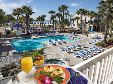 Poolside at the Tradewinds Tampa Beach resort