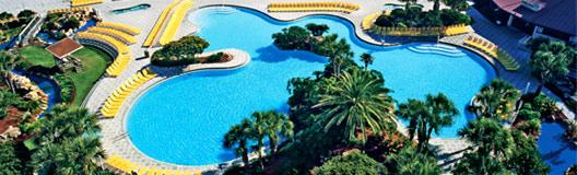 View of pool at Edgewater Beach Resort in Panama City Beach